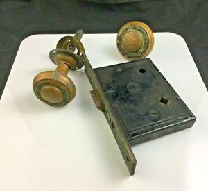 Antique-Reading-Hardware-Bronze-Eastlake-Door-Knob-and-Mortise-Lock-Set