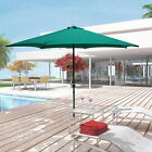10ft Aluminum Outdoor Market Yard Beach Sun Patio Umbrella 6 Ribs Crank Tilt @VP