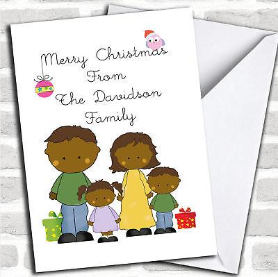 Ragionevole Dalla Nostra Famiglia Di Pelle Scura Natale Carta Personalizzati-