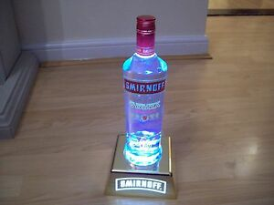 Smirnoff-Bottle-Uplight-HOME-PUB-BAR-MANCAVE-BRAND-NEW-RECHARGABLE-HARD-PLASTIC