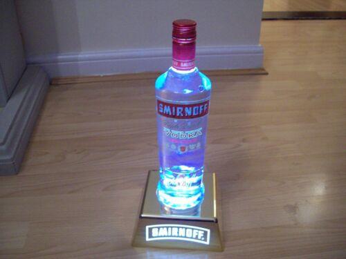 Smirnoff Bottle Uplight HOME PUB//BAR//MANCAVE BRAND NEW RECHARGABLE HARD PLASTIC