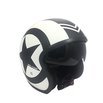 X-Large Viper RS-V06 Matt Flame Open Face Jet Motorcycle Helmet with Visor