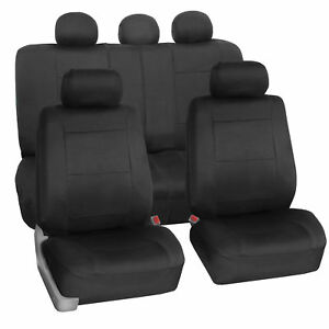 Car Seat Cover Neoprene Waterproof Pet Proof Full Set Cover Black