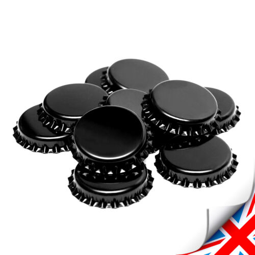 ᴓ26mm UK 200 x Black Crown Caps Capping 26mm Home Brew BOTTLING GLASS /& PET