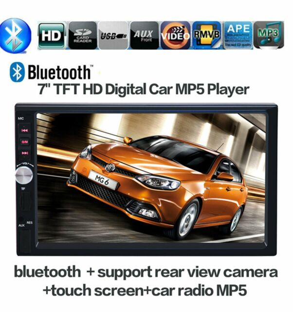 """7"""" HD Bluetooth Touch Screen Car Stereo Radio 2 DIN FM/MP5/MP3/USB/AUX Player US"""