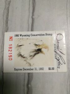 Image Is Loading 1992 Wyoming Conservation Stamp
