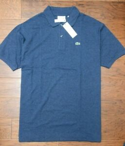 Lacoste PH221B Men's Blue Chine Mesh Cotton Polo Shirt Big & Tall 1XLB EU 8R