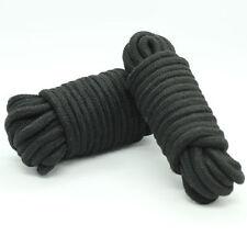 Black soft cotton restraint rope 5 metres long. Fancy dress