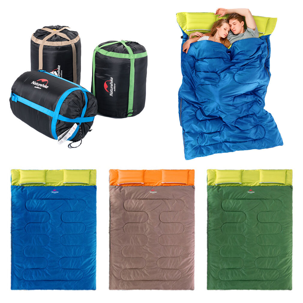 23F -5C Thermal Outdoor Camping Sleeping Bag  Single Double Envelope Mat Hiking T  on sale