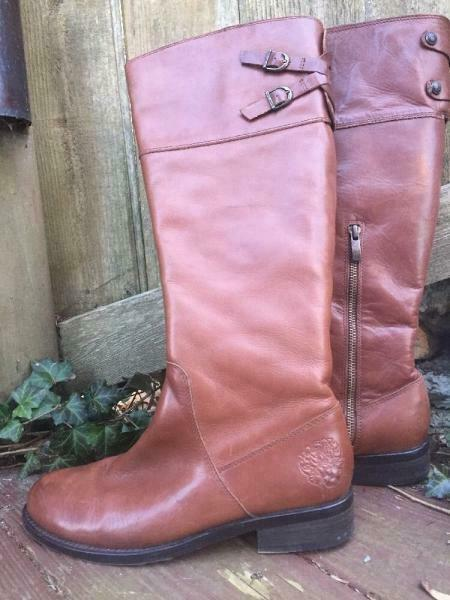 NEW   Vince Camuto   9B Brown Fashion Knee High Boots Round Toe Zip Up 1  Heel