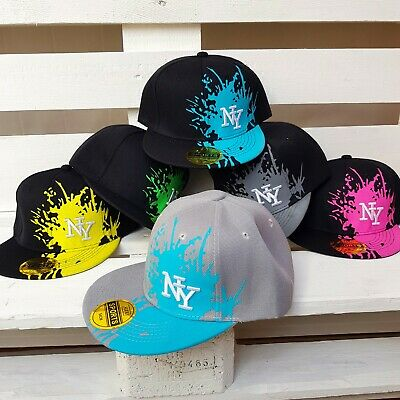 Neue Mode Kinder Snapback Cap Ny Hut Unisex Basecap Baseball Splatter Mütze Neu Moderate Kosten