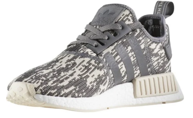 3f44b46f85 adidas Originals NMD R1 Boost Mens Size 8 Running Shoes Glitch Camo Grey  CQ0858