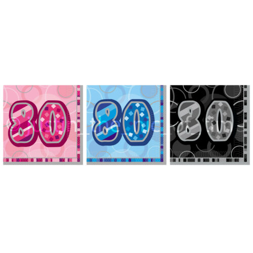NAPKINS 3 Ply x16 Milestone Ages Happy Birthday Cake Party Male Female