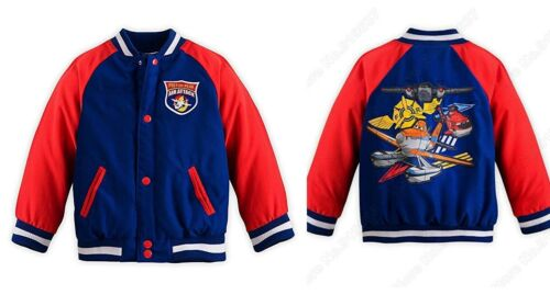 Disney Store Planes Fire /& Rescue Varsity Jacket for Boys Size M Medium 7-8