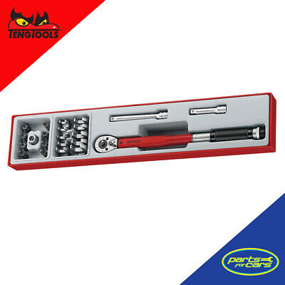 """Teng Tools 3//8/"""" drive Torque Wrench with Crow Foot Wrench Set 20-100Nm TTX3892"""
