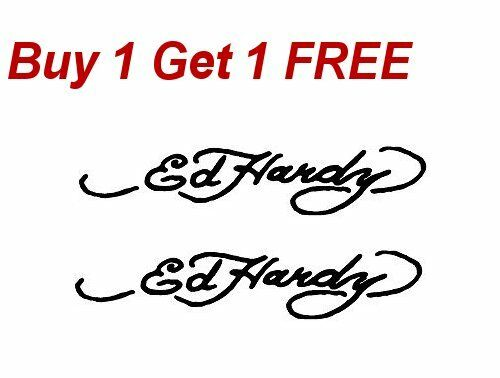 Ed Hardy Signature WoW Ed Hardy Vinyl Decal Bumper Sticker 2 HOT Decal