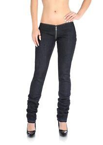 Sexy Low Rise Pants Jeans Denim Trousers Women Lady Zip