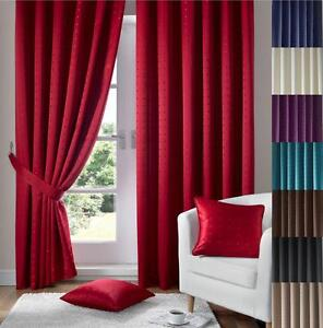 1-PAIR-MADISON-FULLY-LINED-PENCIL-PLEAT-CURTAINS-FREE-Tiebacks-Many-Colours