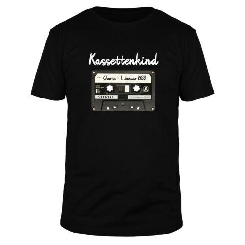 Cassette bambino desiderio nome Musica Audio Sound Oldschool 70er 80er DJ T-shirt Uomo