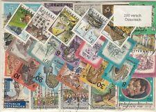 200 verschiedene Briefmarken aus Österreich