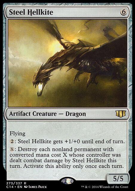 STEEL HELLKITE NM mtg Commander 2014 Grey - Artifact Rare