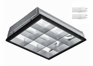Details About 2x2 Led Parabolic Light Fixture With 2 Lamps Included 5000k