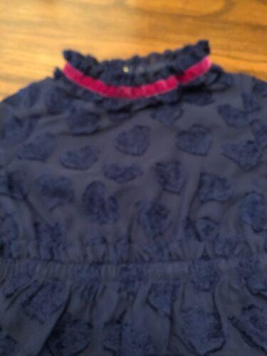 Genuine Kids from OshKosh 4T Navy Ruffle Heart Dress