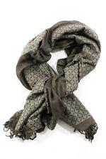 Dries Van Noten Brown Printed Knit Wide Fogal Scarf New 78642