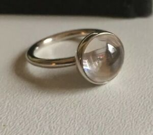 af7dc9987 Pandora Clear Poetic Droplet Ring Size 50 Brand New In Gift Pouch ...