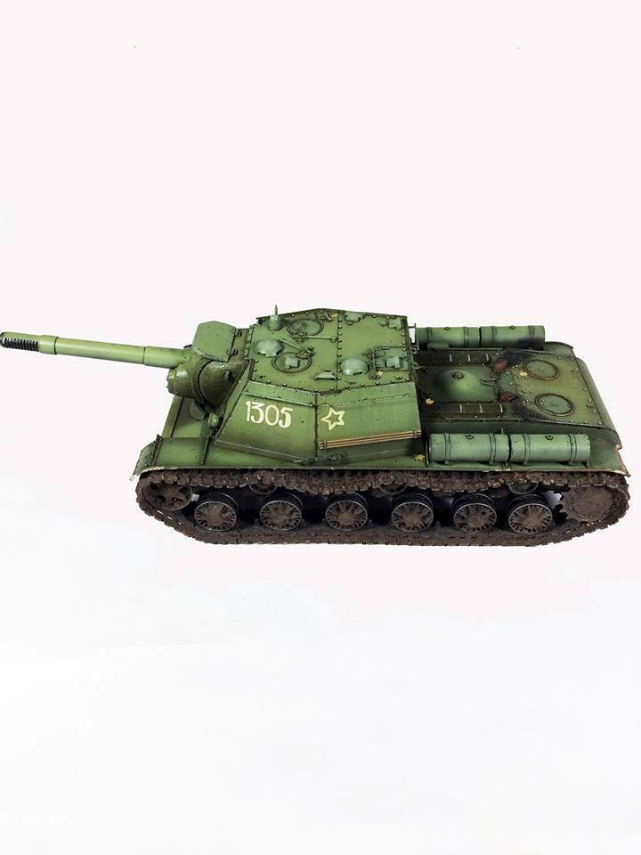 1 35 Trumpeter 01571 SU-152 Painted vehicle vehicle vehicle from Trumpeter Models 206