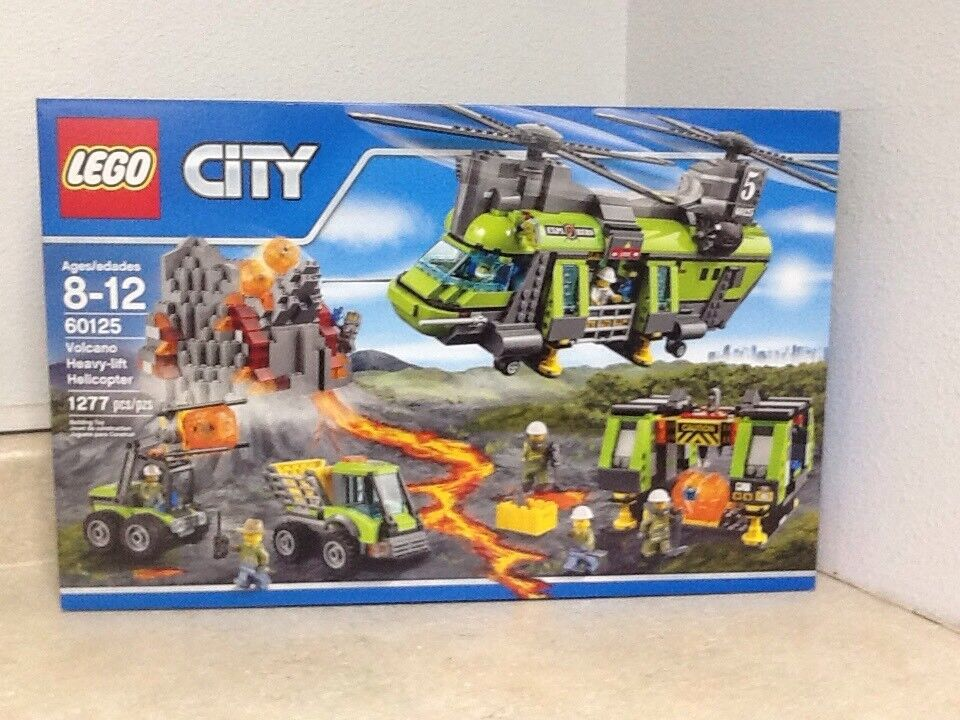 Lego città 60125 Volcano Heavy-lift Helicopter    1,277 pieces  prodotti creativi