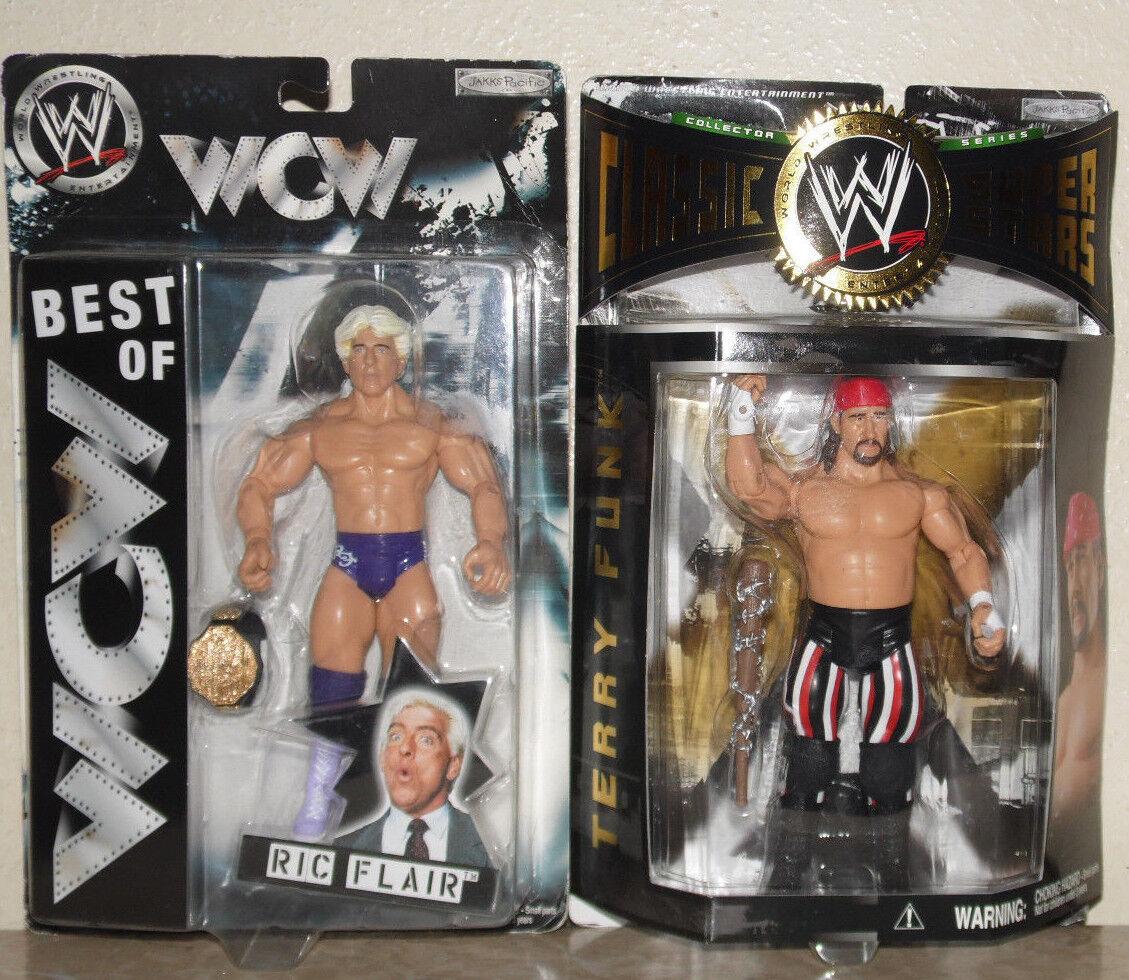 Ric Flair Terry Funk WWE WCW Figura Mattel Jakks Clásico TNA Gfw Raw NWA