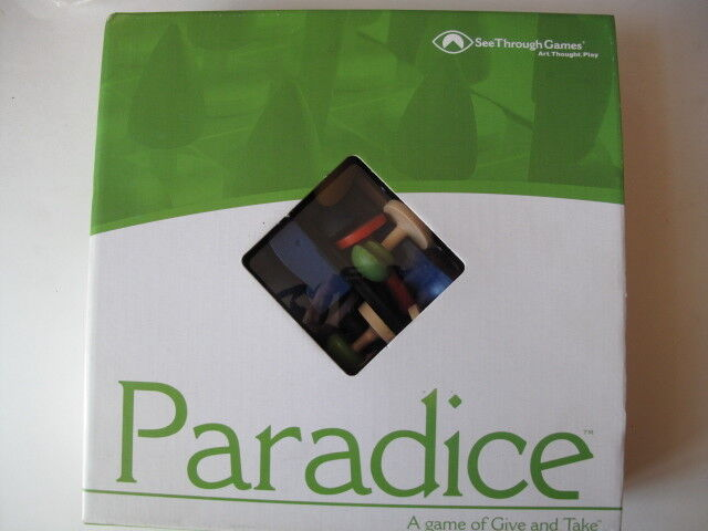 Paradice Board Game by See Through Games for Conscious Living, SIGNED
