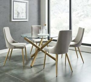 Dining Set with Round Table and Fabric Chairs St. Catharines Ontario Preview