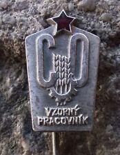 Czech Civil Defense Defence Cold War Excellent Worker Communist Award Pin Badge