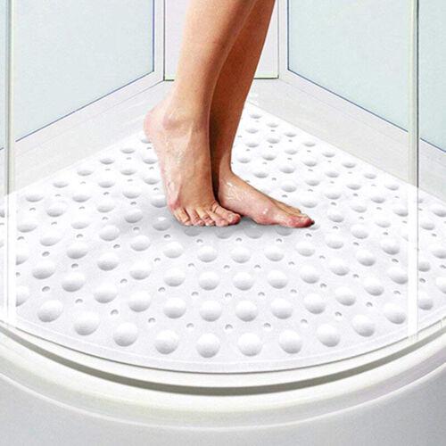 Non Slip Rubber Bath Shower Mat Bathtub Corner Anti Bacterial Pebble Suction Cup