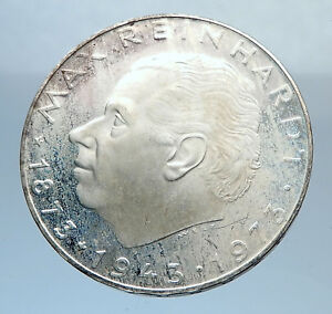 1973-Proof-AUSTRIA-with-Director-Max-Reinhardt-Silver-25-Schilling-Coin-i72035