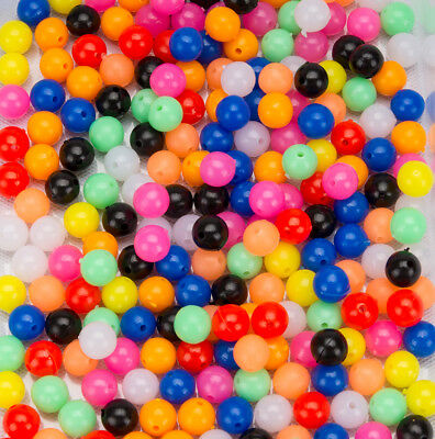 250 Kunststoffperlen Perlen Plastikperlen Shock Bead 8 mm ButtVorfach Scholle