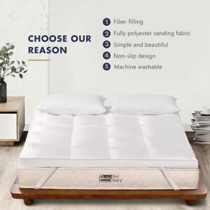 BedStory 2'' Mattress Topper Hypoallergenic Down Pad Cover Twin Full Queen King