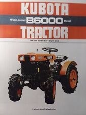 Kubota B6000 Diesel Compact 4wd Farm Ag Tractor Color Sales Brochure