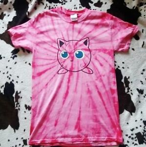 99e3e36a Image is loading Jigglypuff-Inspired-Pink-Tie-Dye-Shirt-Unisex-Adults-