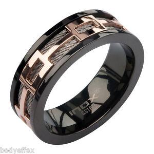 Mens Wedding Rings Black