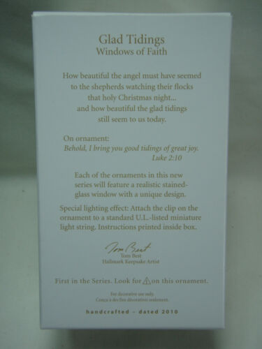 2010 Hallmark Keepsake Ornament Glad Tidings Windows Of Faith #1
