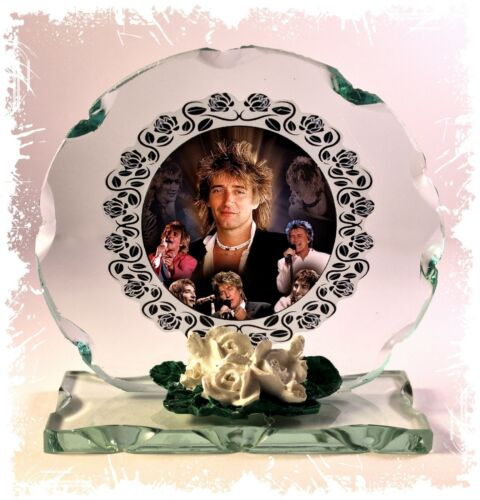 Rod Stewart Collage Cut Glass Round Plaque Frame  Limited Edition Memorabilia #4