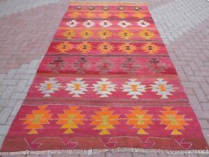 Kelim Modern vintage kilim rug tribal kelim modern rug 65 3 x 135 4