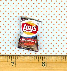 Image Is Loading Dollhouse Miniature Size Potato Chip Bag Bbq