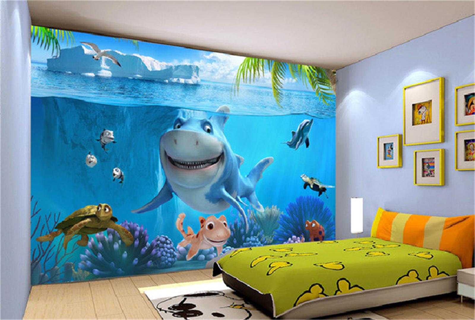 3D Ozean Hai Natur 798 Tapete Wandgemälde Tapeten Bild Familie DE Summer