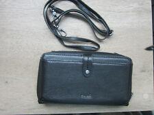 The Sak 3 IN 1 PhoneWallet Wristlet Xbody Genuine Leather Black Missing Wristlet