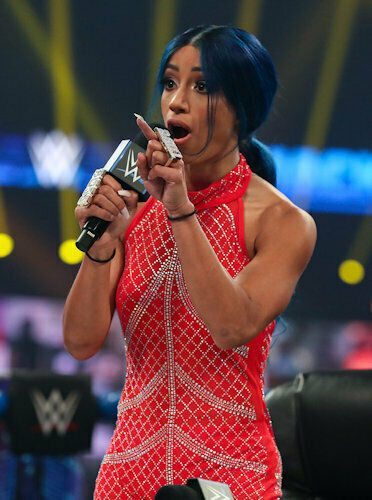 "Sasha Banks SERIOUS 8/"" x 10/"" Photo #2 WWE"