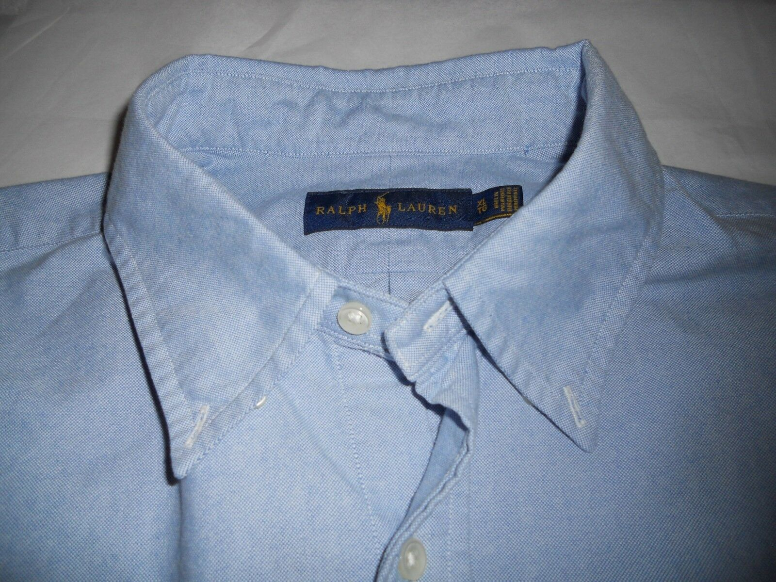 Polo Ralph Lauren Classic Fit Long Sleeve Solid Oxford Shirt, bluee, XL, no tax